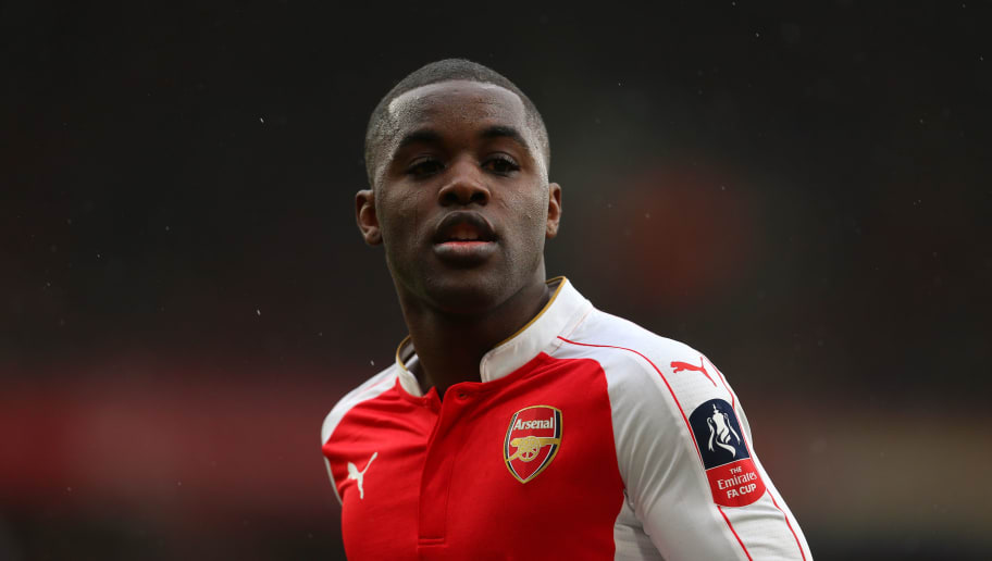 LONDON, ENGLAND - FEBRUARY 20 :  Joel Campbell of Arsenal during the Emirates FA Cup match between Arsenal and Hull City at the Emirates Stadium on February 20, 2016 in London, England.  (Photo by Catherine Ivill - AMA/Getty Images)