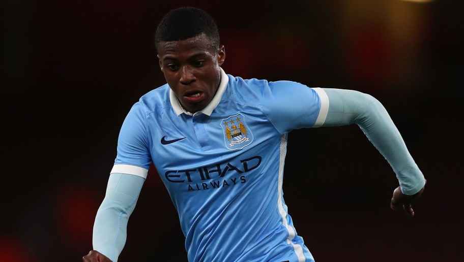 LONDON, ENGLAND - APRIL 04:  Javairo Dilrosun of Man City in action during the FA Youth Cup semi-final second leg match between Arsenal and Manchester City at Emirates Stadium on April 4, 2016 in London, England.  (Photo by Julian Finney/Getty Images)