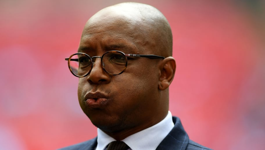 LONDON, ENGLAND - APRIL 23:  BT Sport pundit Ian Wright looks on prior to the Emirates FA Cup Semi-Final match between Arsenal and Manchester City at Wembley Stadium on April 23, 2017 in London, England.  (Photo by Shaun Botterill/Getty Images,)