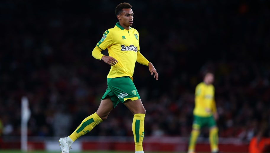 LONDON, ENGLAND - OCTOBER 24: Josh Murphy of Norwich City during the Carabao Cup Fourth Round match between Arsenal and Norwich City at Emirates Stadium on October 24, 2017 in London, England. (Photo by Catherine Ivill - AMA/Getty Images)