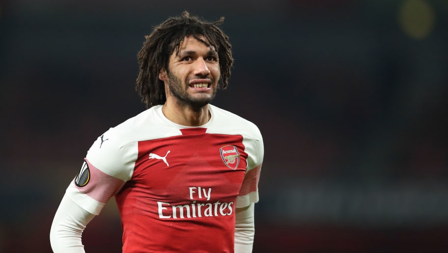 LONDON, ENGLAND - DECEMBER 13: Mohamed Elneny of Arsenal during the UEFA Europa League Group E match between Arsenal and Qarabag FK at Emirates Stadium on December 13, 2018 in London, United Kingdom. Photo by James Williamson - AMA/Getty Images)