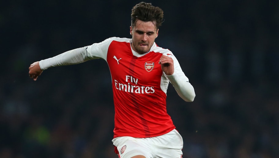 LONDON, ENGLAND - OCTOBER 25: Carl Jenkinson of Arsenal during the EFL Cup fourth round match between Arsenal and Reading at Emirates Stadium on October 25, 2016 in London, England. (Photo by Catherine Ivill - AMA/Getty Images)
