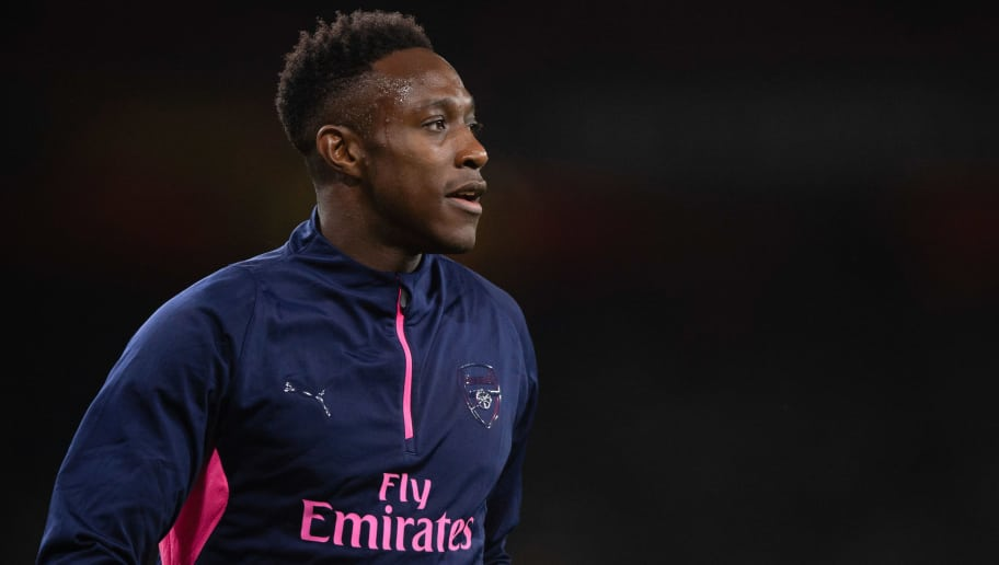 LONDON, ENGLAND - NOVEMBER 08: Danny Welbeck of Arsenal looks on  during the UEFA Europa League Group E match between Arsenal and Sporting CP at Emirates Stadium on November 8, 2018 in London, United Kingdom. (Photo by TF-Images/Getty Images)