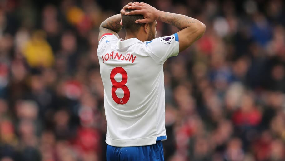 LONDON, ENGLAND - APRIL 01: A dejected Glen Johnson of Stoke City during the Premier League match between Arsenal and Stoke City at Emirates Stadium on April 1, 2018 in London, England. (Photo by James Williamson - AMA/Getty Images)