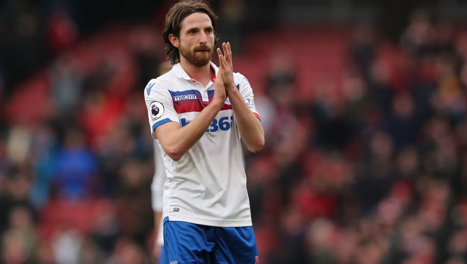 LONDON, ENGLAND - APRIL 01: Joe Allen of Stoke City during the Premier League match between Arsenal and Stoke City at Emirates Stadium on April 1, 2018 in London, England. (Photo by James Williamson - AMA/Getty Images)