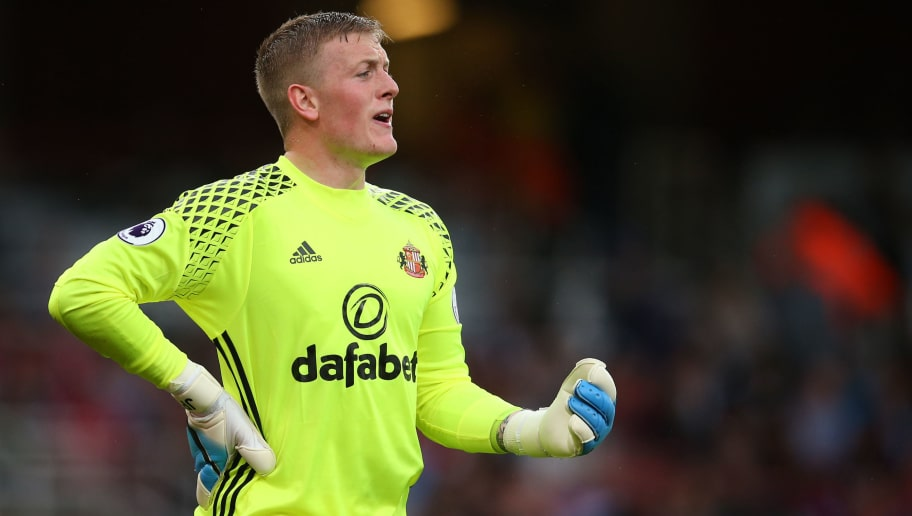LONDON, ENGLAND - MAY 16: Jordan Pickford of Sunderland during the Premier League match between Arsenal and Sunderland at Emirates Stadium on May 16, 2017 in London, England. (Photo by Catherine Ivill - AMA/Getty Images)