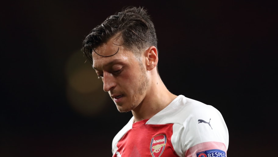 LONDON, ENGLAND - SEPTEMBER 20: Mesut Ozil of Arsenal during the UEFA Europa League Group E match between Arsenal and Vorskla Poltava at Emirates Stadium on September 20, 2018 in London, United Kingdom. (Photo by James Williamson - AMA/Getty Images)