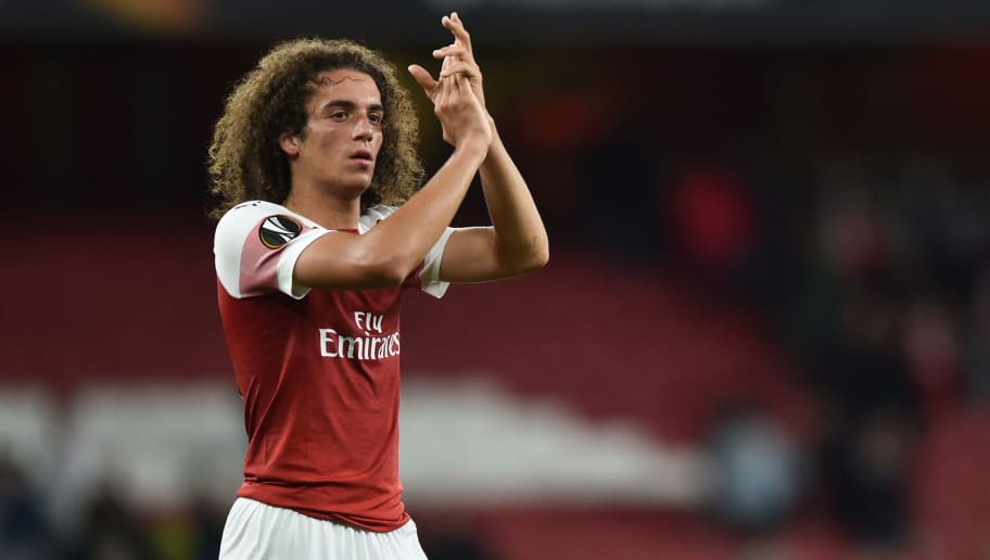LONDON, ENGLAND - SEPTEMBER 20: Matteo Guendouzi of Arsenal gestures during the UEFA Europa League Group E match between Arsenal and Vorskla Poltava at Emirates Stadium on September 20, 2018 in London, United Kingdom. (Photo by TF-Images/Getty Images)