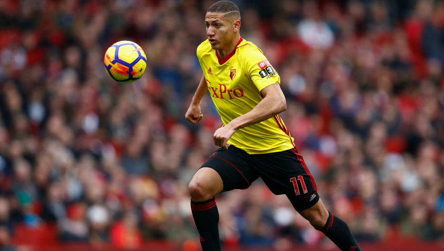 LONDON, ENGLAND - MARCH 11:  Richarlison of Watford in action during the Premier League match between Arsenal and Watford at Emirates Stadium on March 11, 2018 in London, England.  (Photo by Julian Finney/Getty Images)