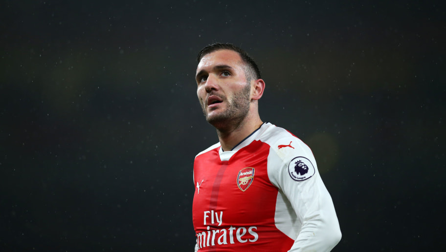 LONDON, ENGLAND - JANUARY 31: Lucas Perez of Arsenal during the Premier League match between Arsenal and Watford at Emirates Stadium on January 31, 2017 in London, England. (Photo by Catherine Ivill - AMA/Getty Images)