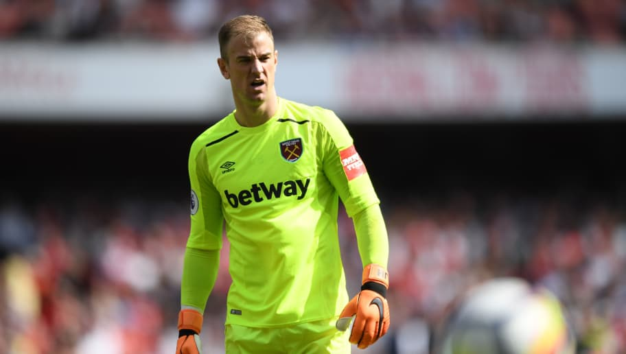 LONDON, ENGLAND - APRIL 22:  Joe Hart of West Ham United looks dejected following the Premier League match between Arsenal and West Ham United at Emirates Stadium on April 22, 2018 in London, England.  (Photo by Shaun Botterill/Getty Images)