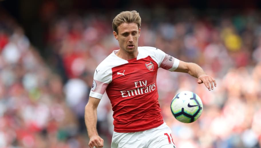 LONDON, ENGLAND - AUGUST 25: Nacho Monreal of Arsenal during the Premier League match between Arsenal FC and West Ham United at Emirates Stadium on August 25, 2018 in London, United Kingdom. (Photo by James Williamson - AMA/Getty Images)