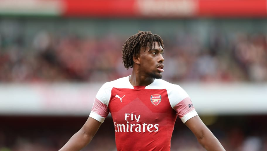 LONDON, ENGLAND - AUGUST 25: Alex Iwobi of Arsenal during the Premier League match between Arsenal FC and West Ham United at Emirates Stadium on August 25, 2018 in London, United Kingdom. (Photo by James Williamson - AMA/Getty Images)