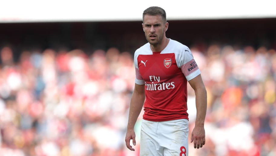 LONDON, ENGLAND - AUGUST 25: Aaron Ramsey of Arsenal during the Premier League match between Arsenal FC and West Ham United at Emirates Stadium on August 25, 2018 in London, United Kingdom. (Photo by James Williamson - AMA/Getty Images)