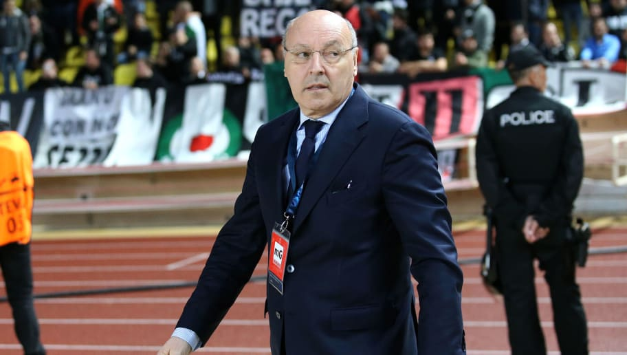 MONACO, MONACO - MAY 3: CEO of Juventus Giuseppe Marotta attends the UEFA Champions League semi final first leg match between AS Monaco and Juventus Turin at Stade Louis II on May 3, 2017 in Monaco, Monaco. (Photo by Jean Catuffe/Getty Images)