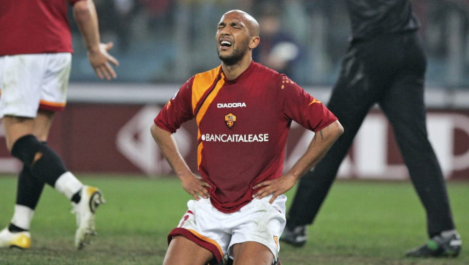 AS Roma's midfielder Olivier Dacourt of