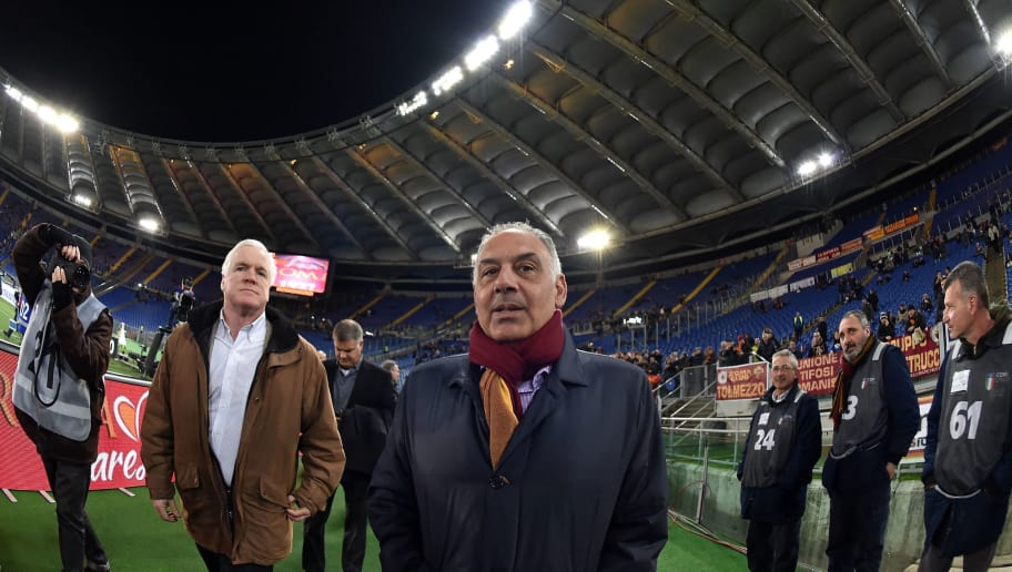 ROME, ITALY - MARCH 04:  James Pallotta, President of AS Roma prior the Serie A match between AS Roma and ACF Fiorentina at Stadio Olimpico on March 4, 2016 in Rome, Italy.  (Photo by Giuseppe Bellini/Getty Images)