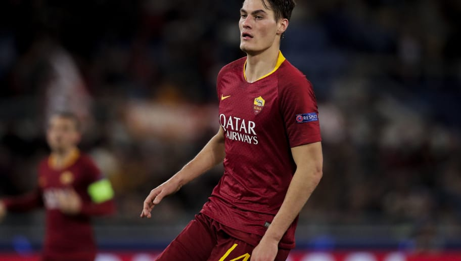 ROME, ITALY - NOVEMBER 27: Patrik Schick of AS Roma during the UEFA Champions League  match between AS Roma v Real Madrid at the Stadio Olimpico Rome on November 27, 2018 in Rome Italy (Photo by David S. Bustamante/Soccrates/Getty Images)