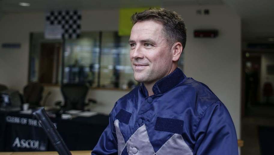ASCOT, ENGLAND - NOVEMBER 24:  Ex England footballer Michael Owen prior to riding in a charity race at Ascot racecourse on November 24, 2017 in Ascot, United Kingdom. (Photo by Alan Crowhurst/Getty Images)