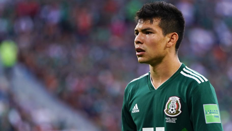 YEKATERINBURG, RUSSIA - JUNE 27: Hirving Lozano of Mexico looks on during the 2018 FIFA World Cup Russia group F match between Mexico and Sweden at Ekaterinburg Arena on June 27, 2018 in Yekaterinburg, Russia. (Photo by Carlos Cuin/Jam Media/Getty Images)