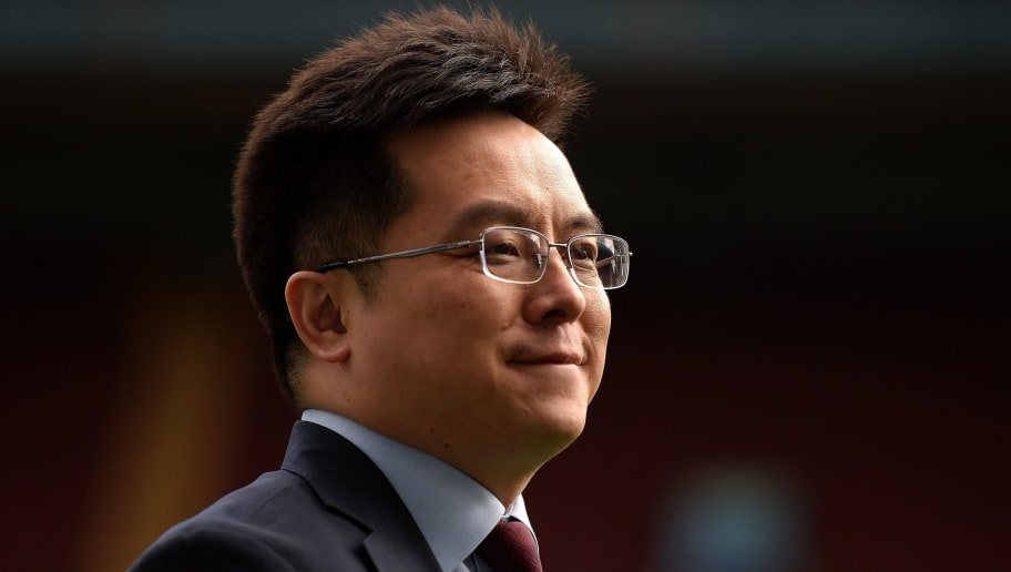BIRMINGHAM, UNITED KINGDOM - APRIL 23: Dr Tony Xia, Chairman of Aston Villa walks the pitch during the Sky Bet Championship match between Aston Villa and Birmingham City at Villa Park on April 23, 2017 in Birmingham, England. (Photo by Harry Trump/Getty Images)