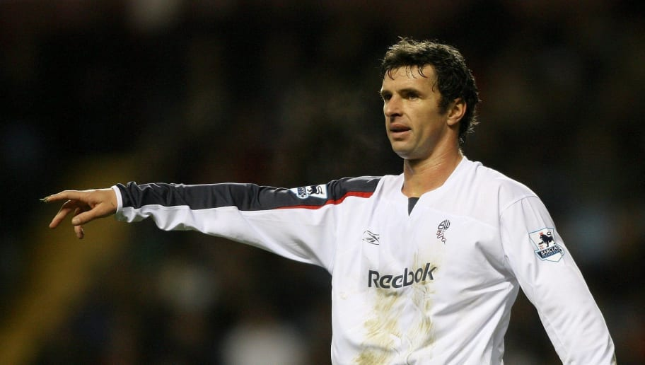 BIRMINGHAM, UNITED KINGDOM - DECEMBER 16:  Bolton goalscorer Gary Speed gestures during the Premiership match between Aston Villa and Bolton Wanderers at Villa Park on December 16 2006 in Birmingham, England.  (Photo by Stu Forster/Getty Images)