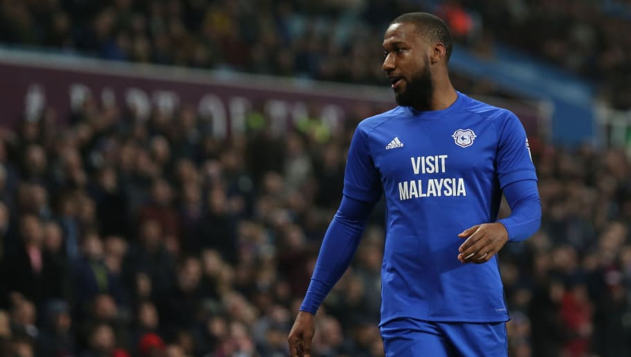 BIRMINGHAM, ENGLAND - APRIL 10: Junior Hoilett of Cardiff City during the Sky Bet Championship match between Aston Villa v Cardiff City at Villa Park on April 10, 2018 in Birmingham, England. (Photo by James Williamson - AMA/Getty Images)