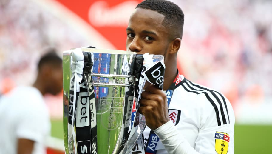 LONDON, ENGLAND - MAY 26:  Ryan Sessegnon of Fulham celebrates with the trophy following their sides victory in the Sky Bet Championship Play Off Final between Aston Villa and  Fulham at Wembley Stadium on May 26, 2018 in London, England.  (Photo by Clive Mason/Getty Images)