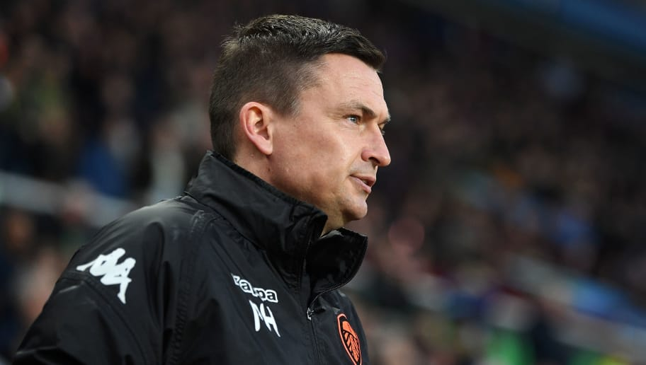 BIRMINGHAM, ENGLAND - APRIL 13:  Leeds Manager Paul Heckingbottom looks on prior to the Sky Bet Championship match between Aston Villa and Leeds United at Villa Park on April 13, 2018 in Birmingham, England.  (Photo by Michael Regan/Getty Images)