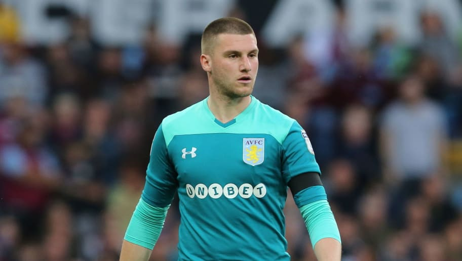 BIRMINGHAM, ENGLAND - MAY 15: Sam Johnstone of Aston Villa during the Sky Bet Championship Play Off Semi Final:Second Leg match between Aston Villa and Middlesbrough at Villa Park on May 15, 2018 in Birmingham, England. (Photo by James Williamson - AMA/Getty Images)