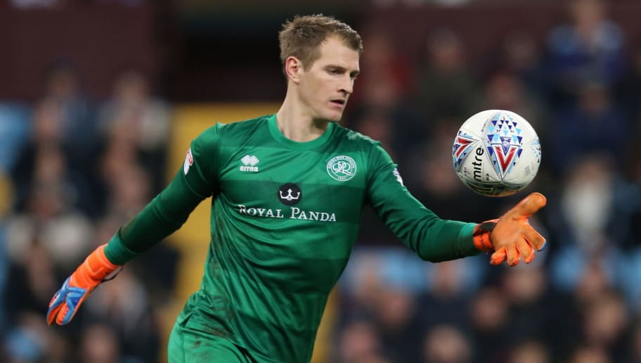 BIRMINGHAM, ENGLAND - MARCH 13: Alex Smithies of Queens Park Rangers during the Sky Bet Championship match between Aston Villa and Queens Park Rangers at Villa Park on March 13, 2018 in Birmingham, England. (Photo by James Williamson - AMA/Getty Images)