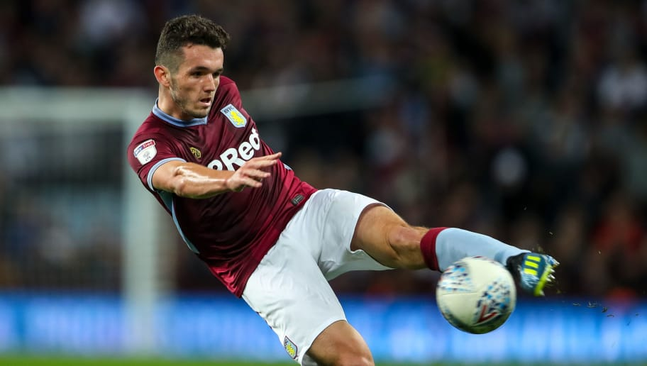BIRMINGHAM, ENGLAND - SEPTEMBER 18: John McGinn of Aston Villa during the Sky Bet Championship match at Villa Park on September 18, 2018 in Birmingham, England. (Photo by Robbie Jay Barratt - AMA/Getty Images)