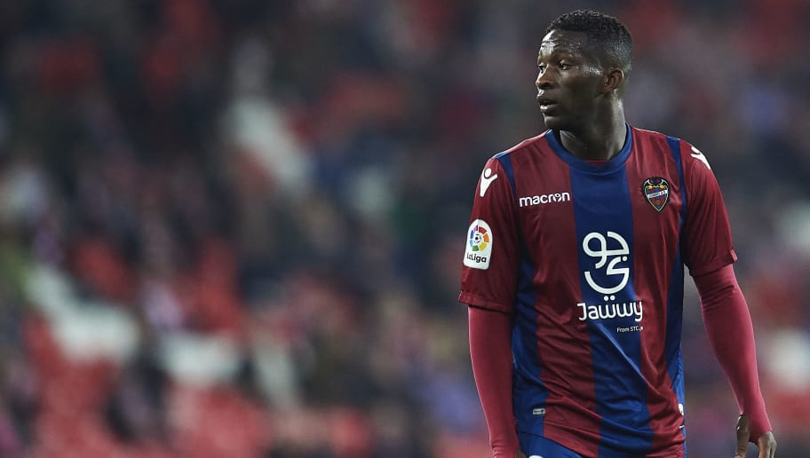 BILBAO, SPAIN - APRIL 23:  Jefferson Lerma of Levante UD looks on during the La Liga match between Athletic Club and Levante at Estadio San Mames on April 23, 2018 in Bilbao.   (Photo by Juan Manuel Serrano Arce/Getty Images)