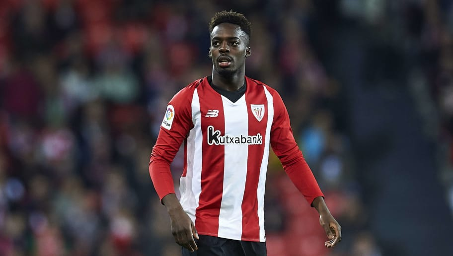 BILBAO, SPAIN - DECEMBER 22: Inaki Williams of Athletic Club reacts during the La Liga match between Athletic Club and Real Valladolid CF at San Mames Stadium on December 22, 2018 in Bilbao, Spain. (Photo by Juan Manuel Serrano Arce/Getty Images)