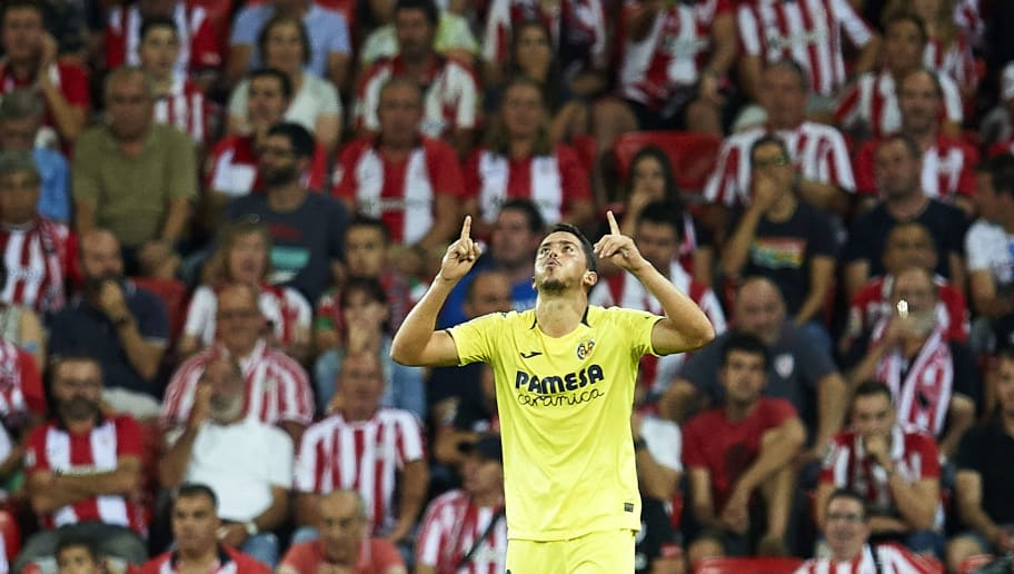 BILBAO, SPAIN - SEPTEMBER 26:  Pablo Fornals of Villarreal CF celebrates after scoring goal during the La Liga match between Athletic Club Bilbao and Villarreal CF at San Mames Stadium on September 26, 2018 in Bilbao, Spain.  (Photo by Juan Manuel Serrano Arce/Getty Images)