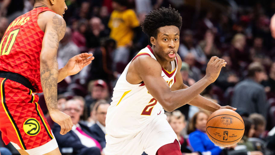 CLEVELAND, OH - OCTOBER 30: Collin Sexton #2 of the Cleveland Cavaliers drives around Jaylen Adams #10 of the Atlanta Hawks during the second half at Quicken Loans Arena on October 30, 2018 in Cleveland, Ohio. The Cavaliers defeated the Hawks 136-114. NOTE TO USER: User expressly acknowledges and agrees that, by downloading and/or using this photograph, user is consenting to the terms and conditions of the Getty Images License Agreement. (Photo by Jason Miller/Getty Images)