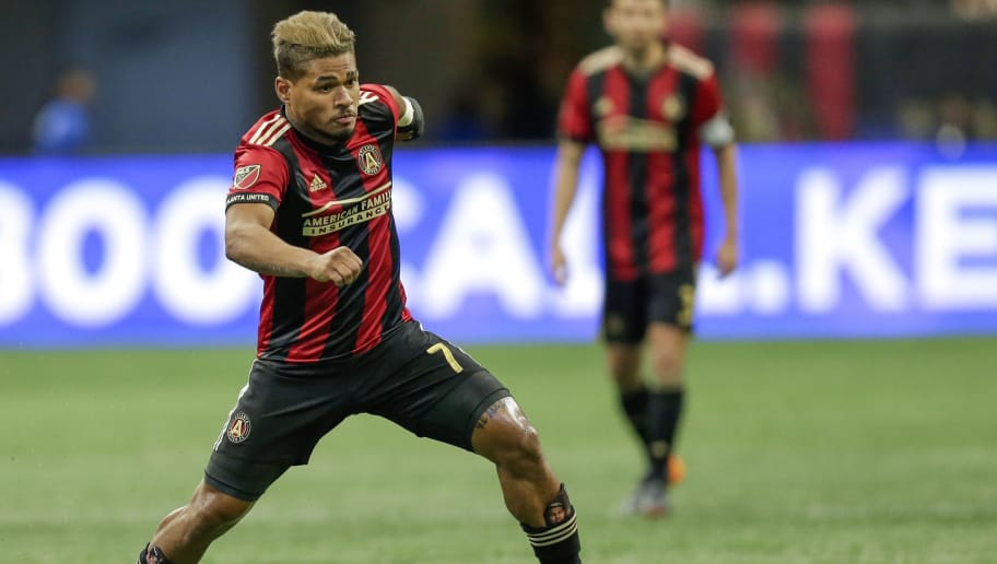 ATLANTA, UNITED STATES - APRIL 28: Josef Martinez of Atlanta United  during the    match between Atlanta United FC v Montreal Impact at the Mercedes-Benz Stadium on April 28, 2018 in Atlanta United States (Photo by Peter Lous/Soccrates/Getty Images)