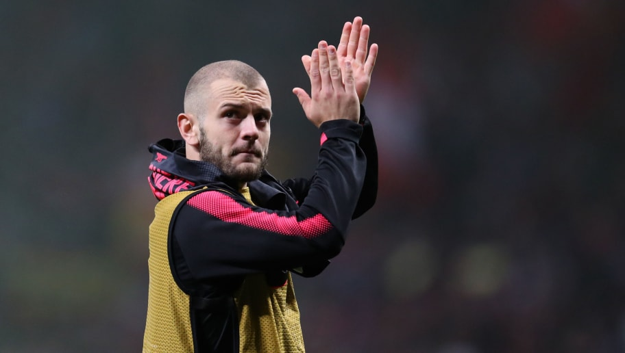 MADRID, SPAIN - MAY 03: Jack Wilshere of Arsenal during the UEFA Europa League Semi Final second leg match between Atletico Madrid  and Arsenal FC at Estadio Wanda Metropolitano on May 3, 2018 in Madrid, Spain. (Photo by Catherine Ivill/Getty Images)