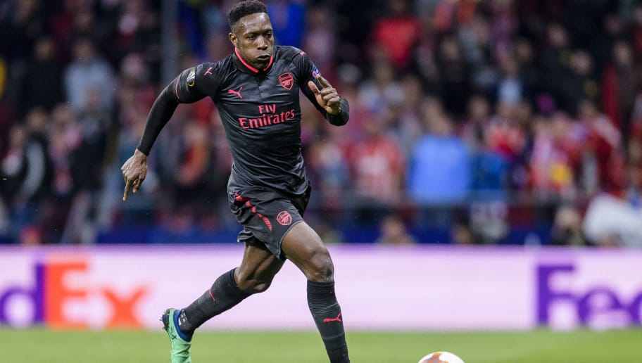 MADRID, SPAIN - MAY 03: Danny Welbeck of Arsenal FC in action during the UEFA Europa League 2017-18 semi-finals (2nd leg) match between Atletico de Madrid and Arsenal FC at Wanda Metropolitano on May 03 2018 in Madrid, Spain. (Photo by Power Sport Images/Getty Images)