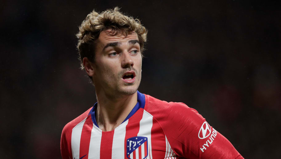 MADRID, SPAIN - NOVEMBER 10: Antoine Griezmann of Atletico Madrid during the La Liga Santander  match between Atletico Madrid v Athletic de Bilbao at the Estadio Wanda Metropolitano on November 10, 2018 in Madrid Spain (Photo by David S Bustamante/Soccrates /Getty Images)