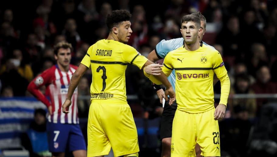 7e88aa1e2 Jadon Sancho Names Christian Pulisic as His Inspiration for Joining Borussia  Dortmund