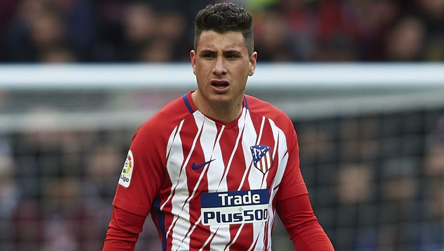 MADRID, SPAIN - MARCH 11: Jose Maria Gimenez of Atletico Madrid looks on during the La Liga match between Atletico Madrid and Celta de Vigo at Wanda Metropolitano Stadium on March 11, 2018 in Madrid, Spain. (Photo by Quality Sport Images/Getty Images)