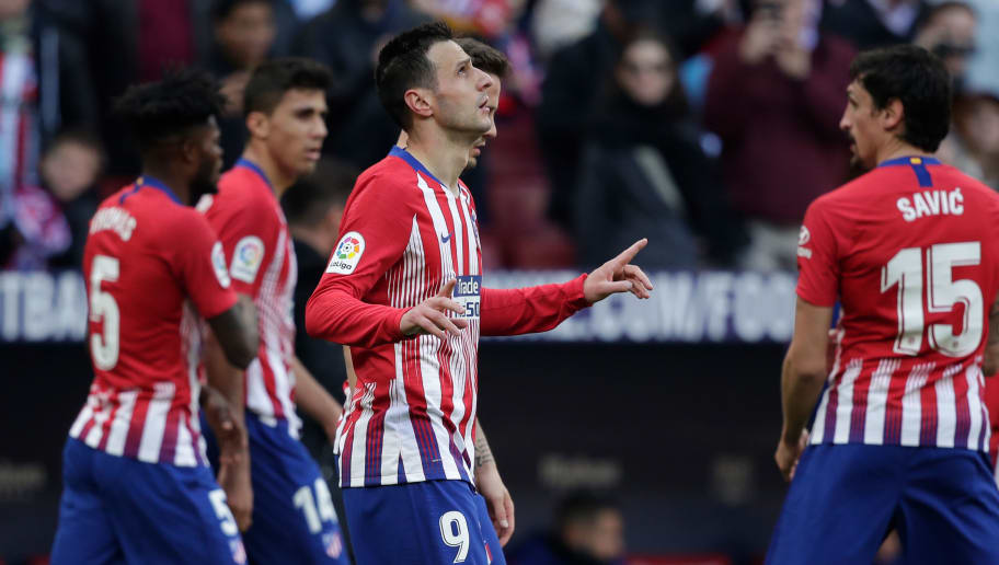 MADRID, SPAIN - DECEMBER 8: Nikola Kalinic of Atletico Madrid  during the La Liga Santander  match between Atletico Madrid v Deportivo Alaves at the Estadio Wanda Metropolitano on December 8, 2018 in Madrid Spain (Photo by David S. Bustamante/Soccrates/Getty Images)