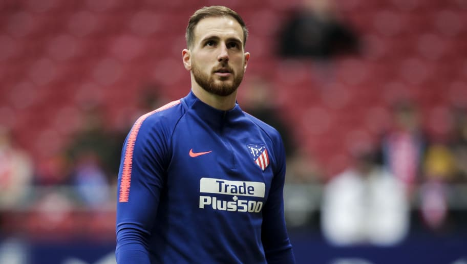 MADRID, SPAIN - DECEMBER 22: Jan Oblak of Atletico Madrid during the La Liga Santander  match between Atletico Madrid v Espanyol at the Estadio Wanda Metropolitano on December 22, 2018 in Madrid Spain (Photo by David S. Bustamante/Soccrates/Getty Images)