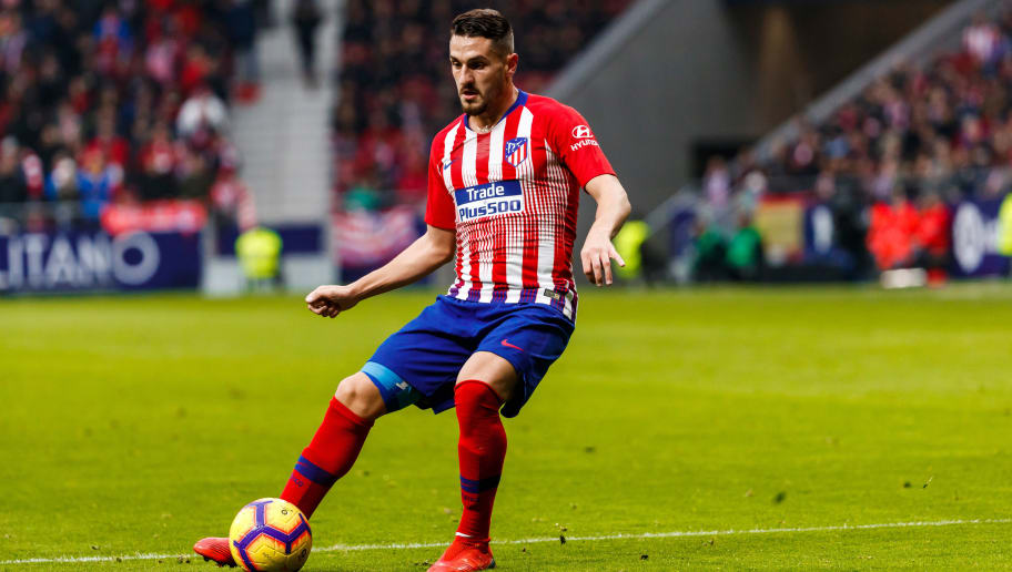 MADRID, SPAIN - DECEMBER 22: Koke Resurrección of Atletico de Madrid controls the ball during the La Liga Santander match between Atletico Madrid v Espanyol at the Estadio Wanda Metropolitano on December 22, 2018 in Madrid Spain. (Photo by TF-Images/TF-Images via Getty Images)