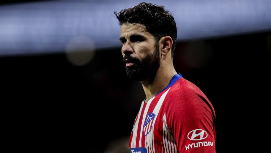 MADRID, SPAIN - NOVEMBER 24: Diego Costa of Atletico Madrid during the La Liga Santander  match between Atletico Madrid v FC Barcelona at the Estadio Wanda Metropolitano on November 24, 2018 in Madrid Spain (Photo by David S. Bustamante/Soccrates/Getty Images)