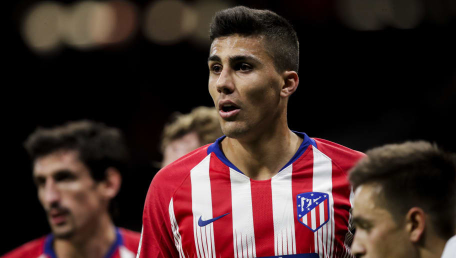 MADRID, SPAIN - OCTOBER 27: Rodri of Atletico Madrid during the La Liga Santander  match between Atletico Madrid v Real Sociedad at the Estadio Wanda Metropolitano on October 27, 2018 in Madrid Spain (Photo by David S. Bustamante/Soccrates/Getty Images)