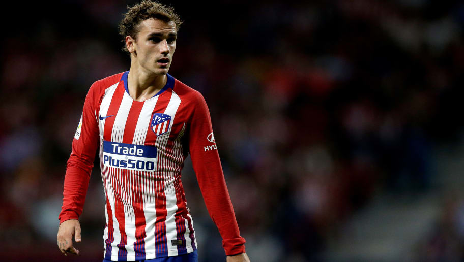 MADRID, SPAIN - SEPTEMBER 25: Antoine Griezmann of Atletico Madrid during the La Liga Santander  match between Atletico Madrid v SD Huesca at the Estadio Wanda Metropolitano on September 25, 2018 in Madrid Spain (Photo by Jeroen Meuwsen/Soccrates/Getty Images)