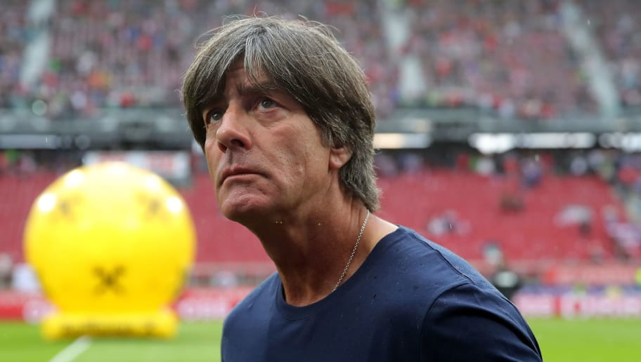 KLAGENFURT, AUSTRIA - JUNE 02:  Joachim Loew, head coach of Germany reacts before the International Friendly match between Austria and Germany at Woerthersee Stadion on June 2, 2018 in Klagenfurt, Austria.  (Photo by Alexander Hassenstein/Bongarts/Getty Images)