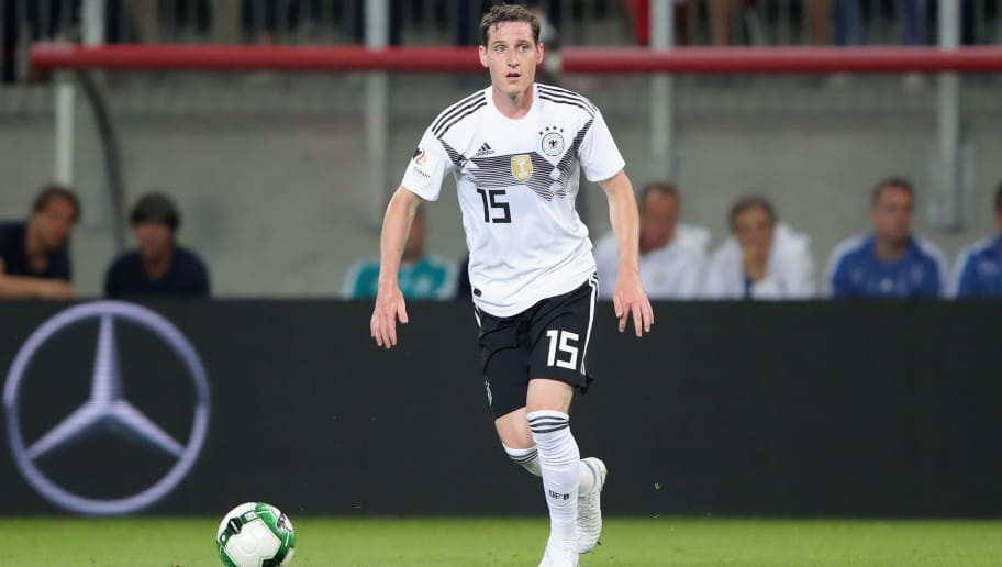 KLAGENFURT, AUSTRIA - JUNE 02:  Sebastian Rudy of Germany runs with the ball during the International Friendly match between Austria and Germany at Woerthersee Stadion on June 2, 2018 in Klagenfurt, Austria.  (Photo by Alexander Hassenstein/Bongarts/Getty Images)